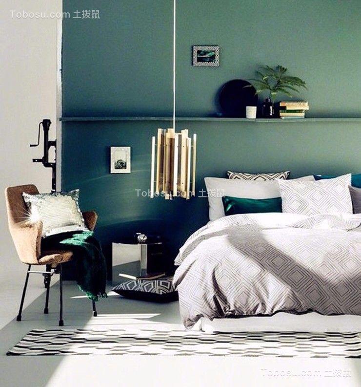 卧室白色床简中风格装饰设计图片