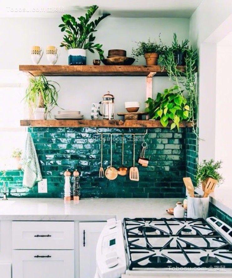 厨房白色橱柜简中风格效果图