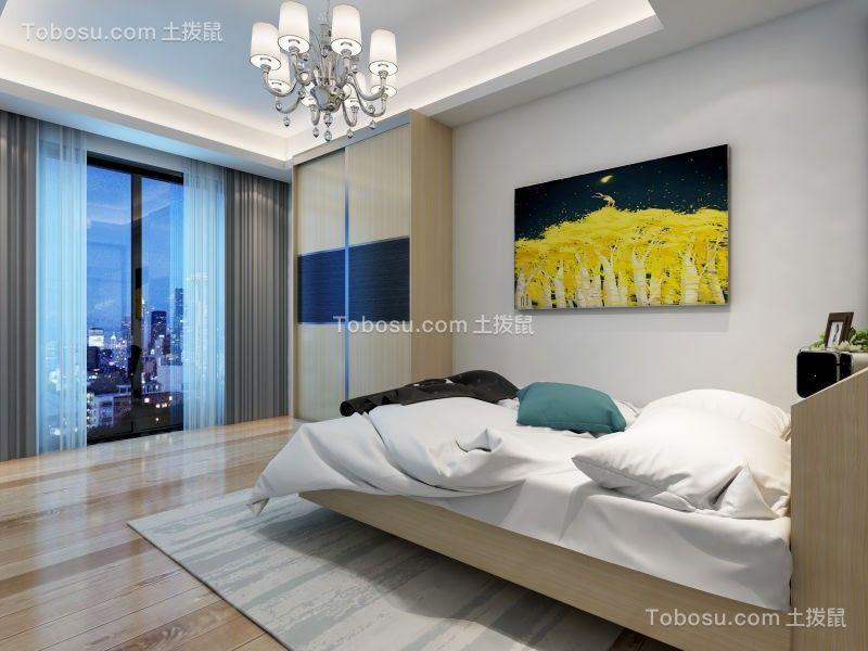 卧室白色床现代风格装修图片