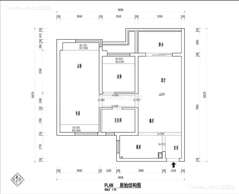 杭州西溪海小海87平米美式风格效果图