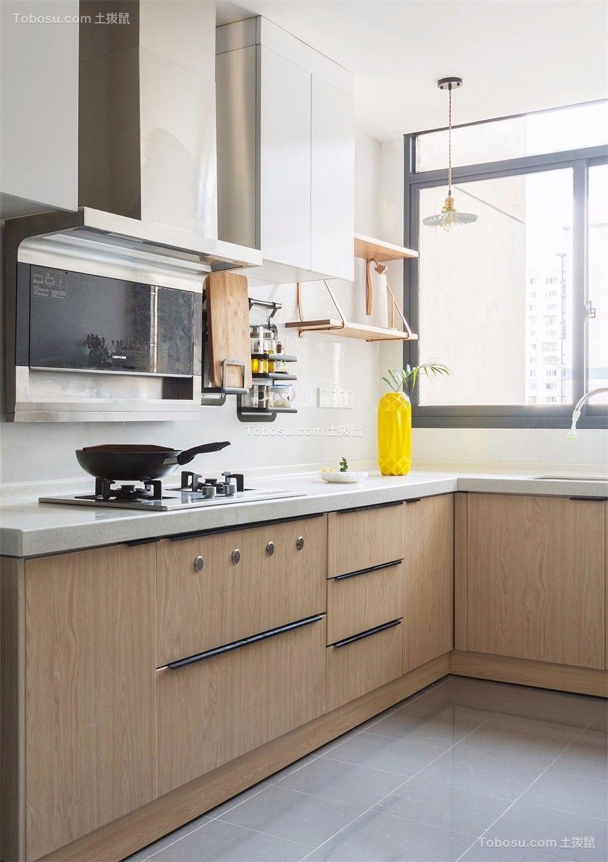 厨房白色厨房岛台北欧风格装饰设计图片