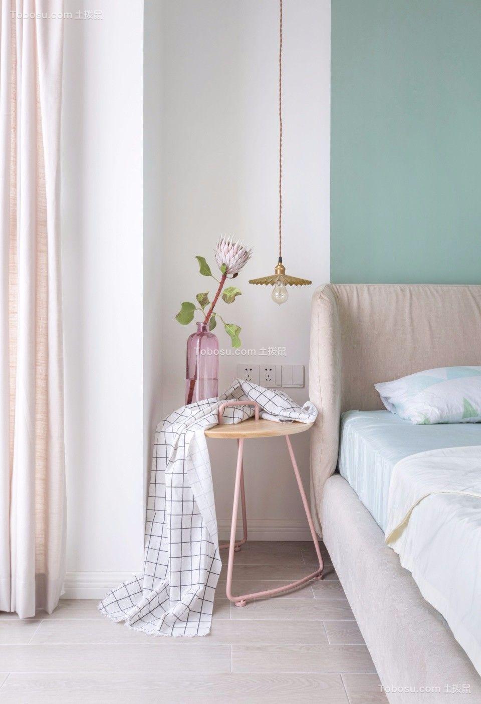 卧室粉色细节北欧风格装潢效果图