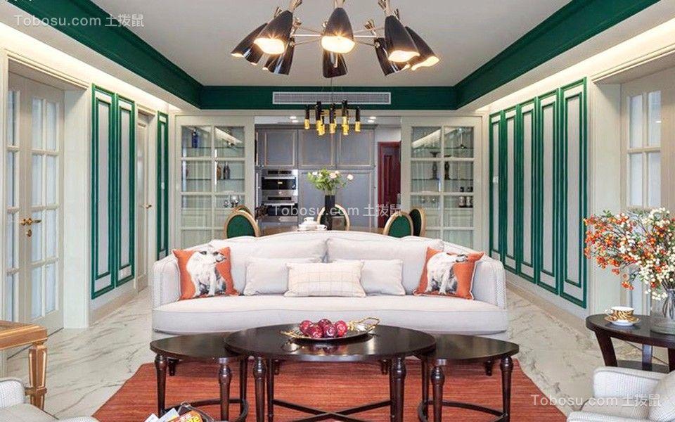 客厅白色沙发美式风格装修效果图