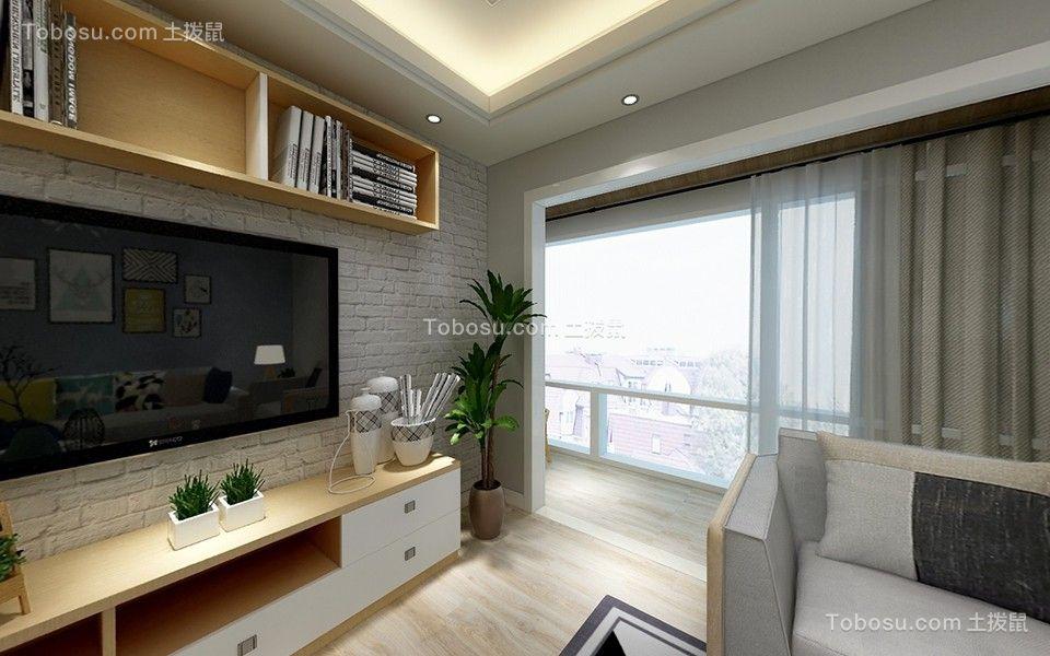 客厅白色吊顶简约风格装修图片