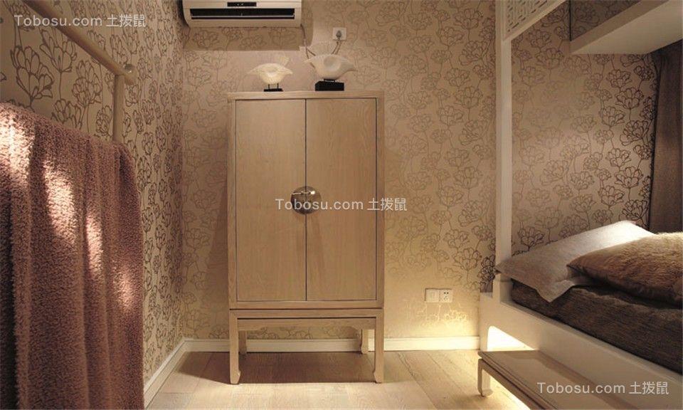 卧室黄色细节新中式风格装修图片