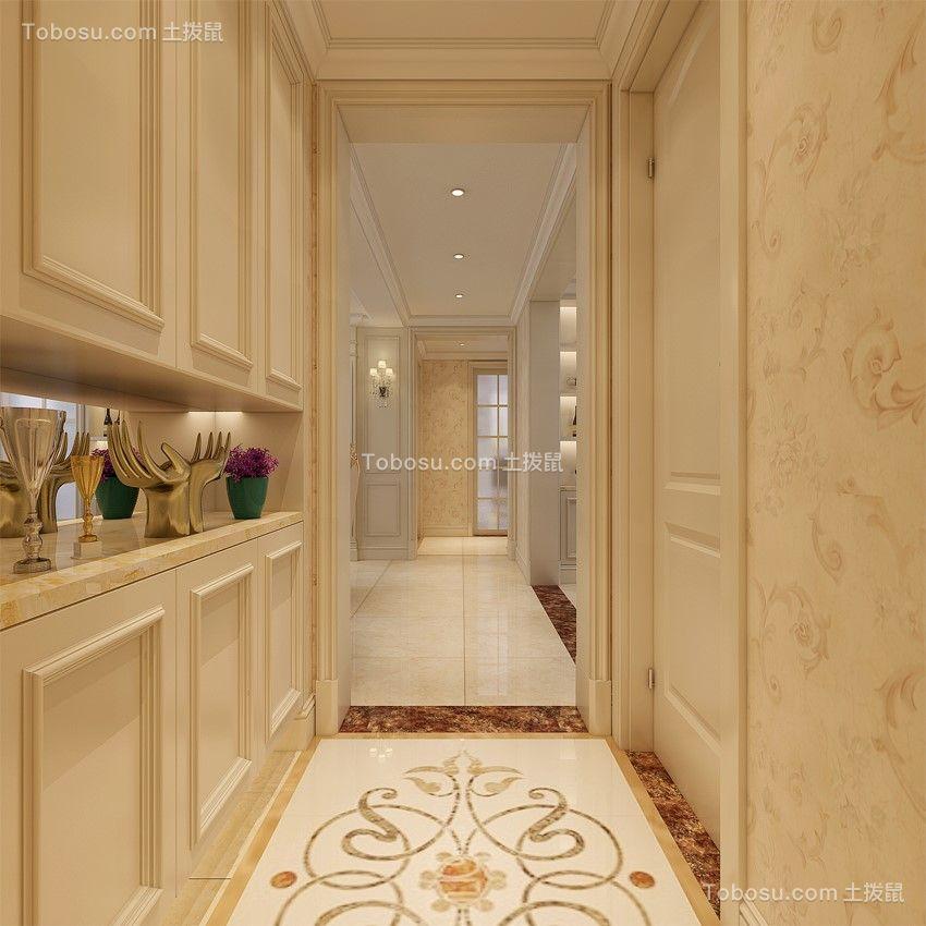 玄关黄色走廊简欧风格效果图