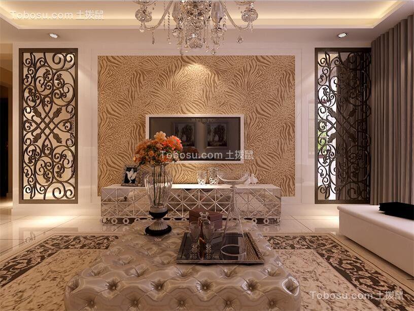 客厅黄色地板砖欧式风格装饰图片
