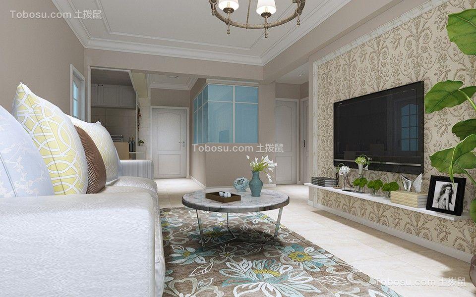 客厅灰色背景墙简约风格装修设计图片