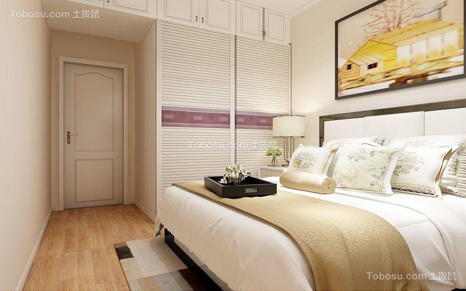卧室米色衣柜简约风格效果图