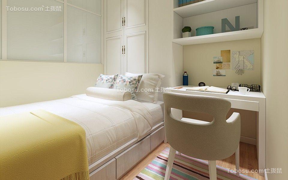 卧室白色榻榻米简约风格装饰效果图