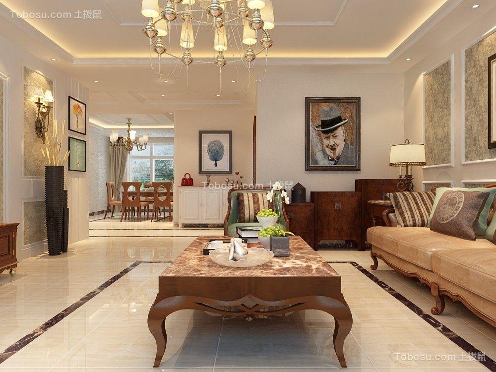 客厅白色细节欧式风格装潢图片