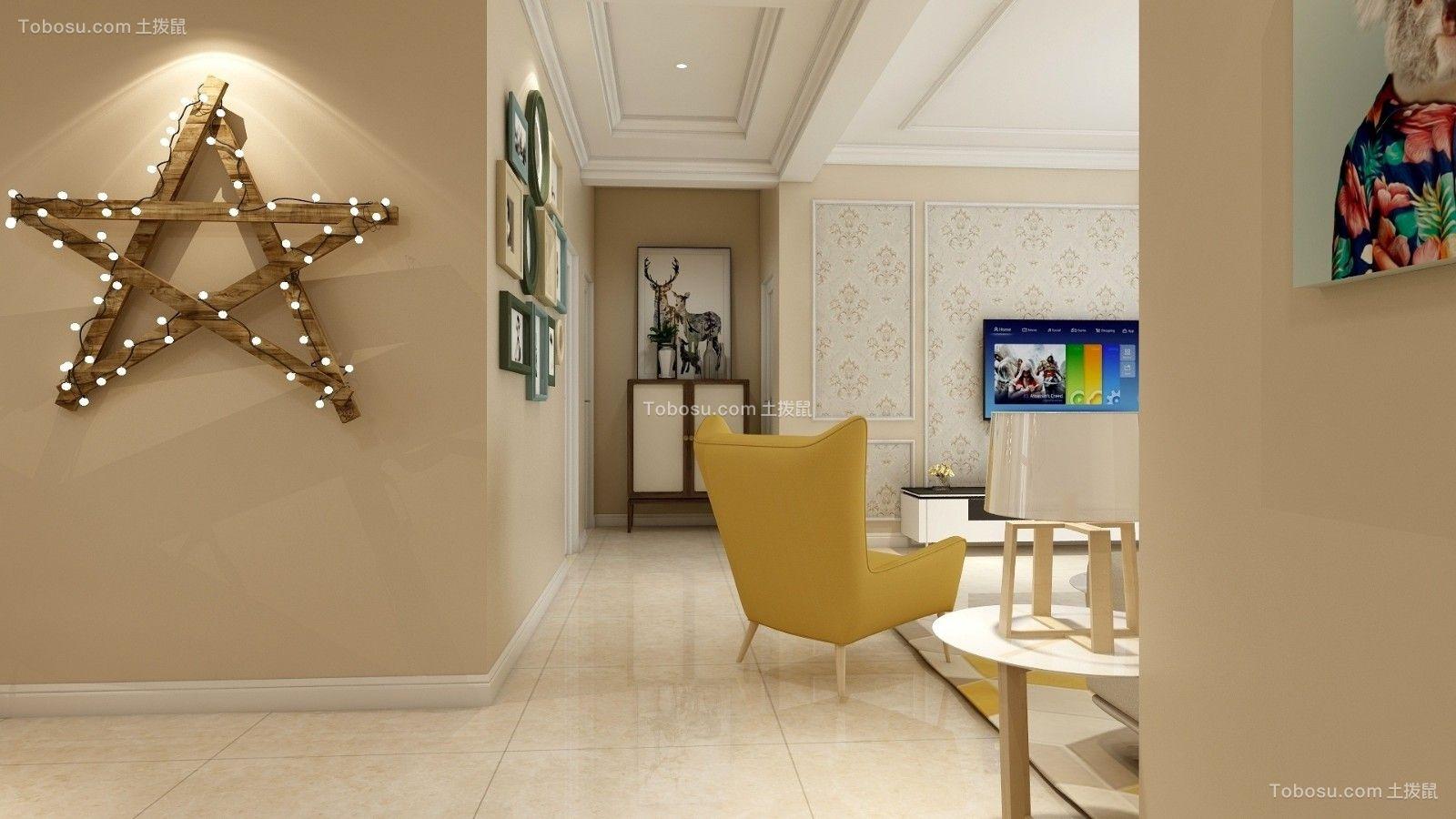 餐厅黄色走廊简约风格装修效果图