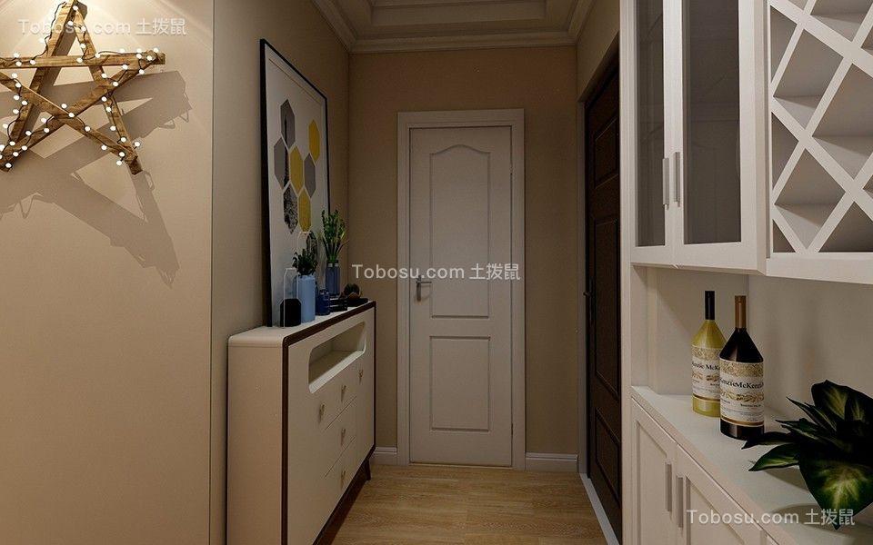 客厅黄色走廊简约风格装饰效果图