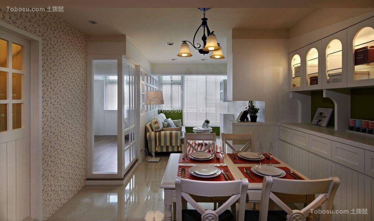 餐厅彩色灯具简约风格装潢效果图