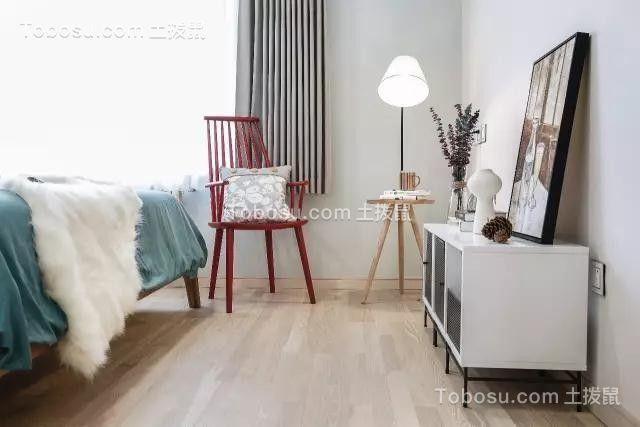 卧室白色地砖现代风格效果图