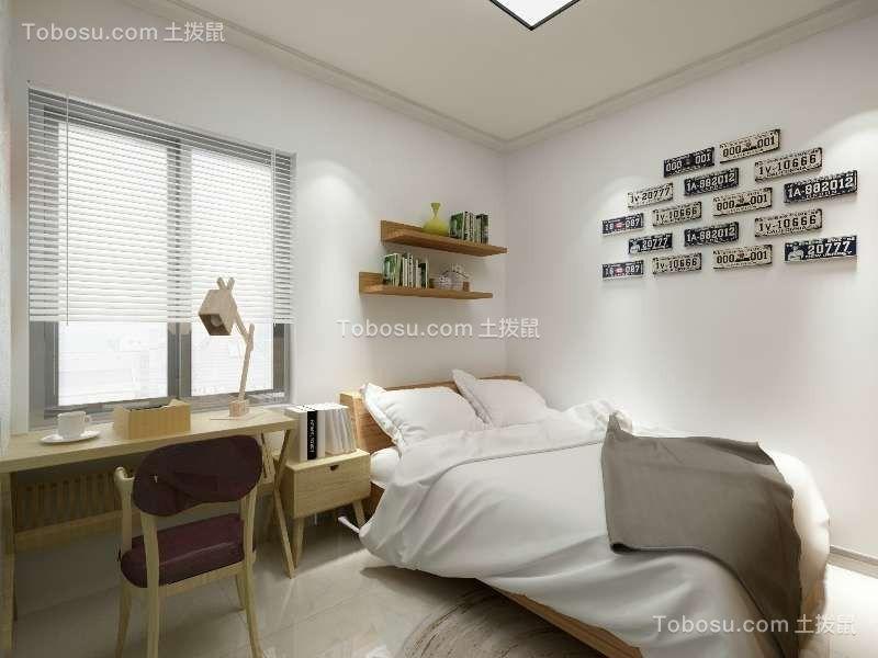 卧室黄色书桌现代风格装修图片