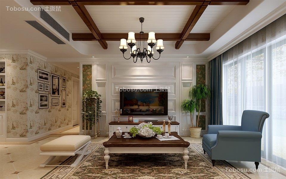美式风格200平米复式新房装修效果图