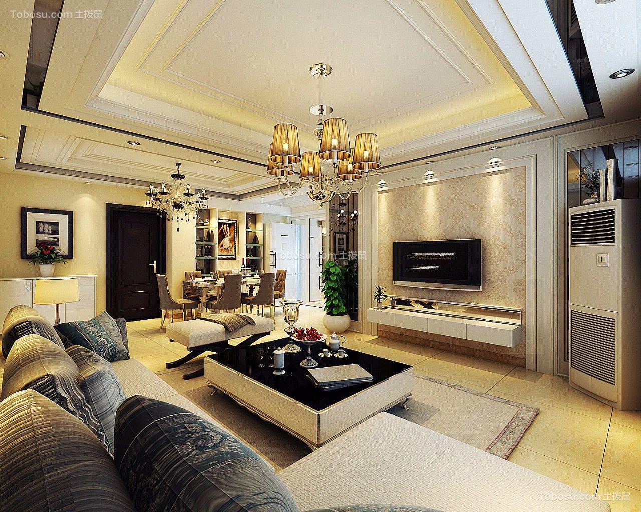 40万预算180平米三室两厅装修效果图