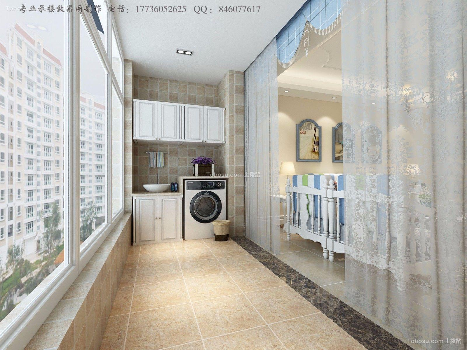 阳台白色窗帘新古典风格装修设计图片
