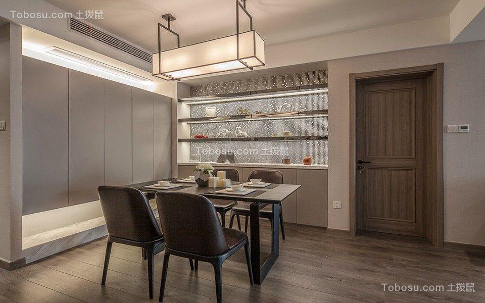 宝龙广场三居室120平米现代风格装修效果图