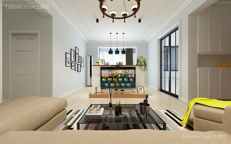 客厅吊顶北欧风格装饰效果图图片