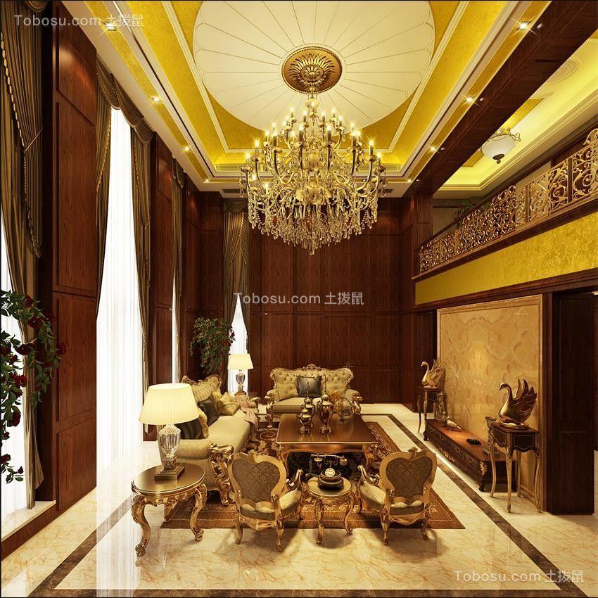 350平古典欧式风格五房装修效果图