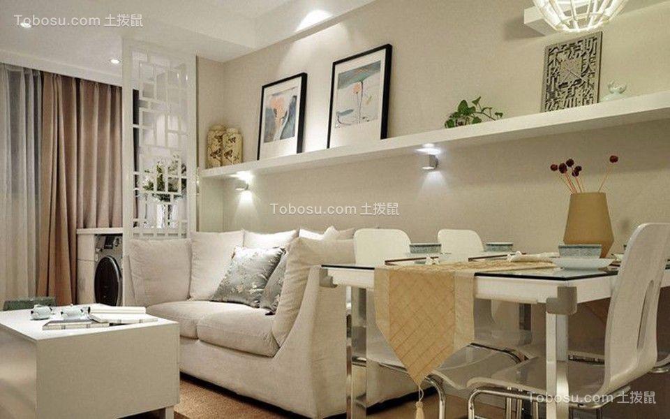 70平两室一厅现代中式风格装修效果图