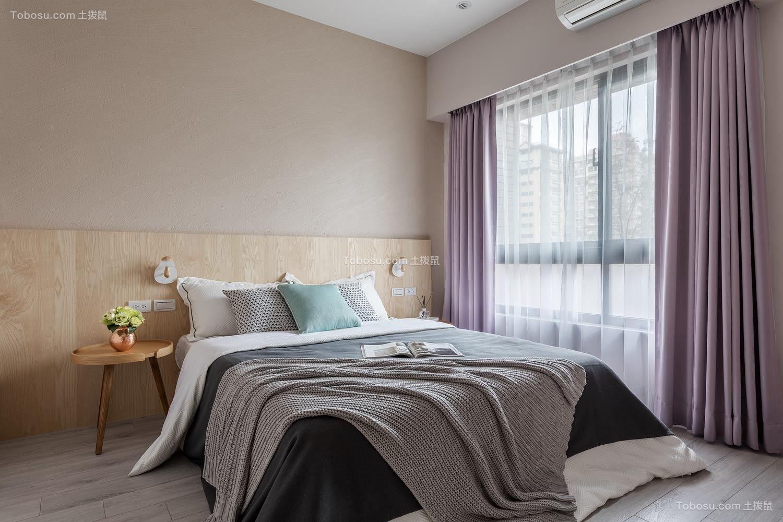 卧室咖啡色床简单风格装修效果图