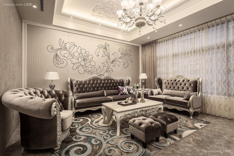 现代欧式风格150平米两室两厅新房装修效果图