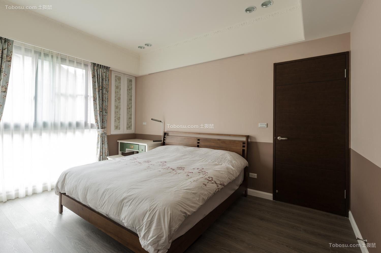 卧室咖啡色床乡村风格装修设计图片