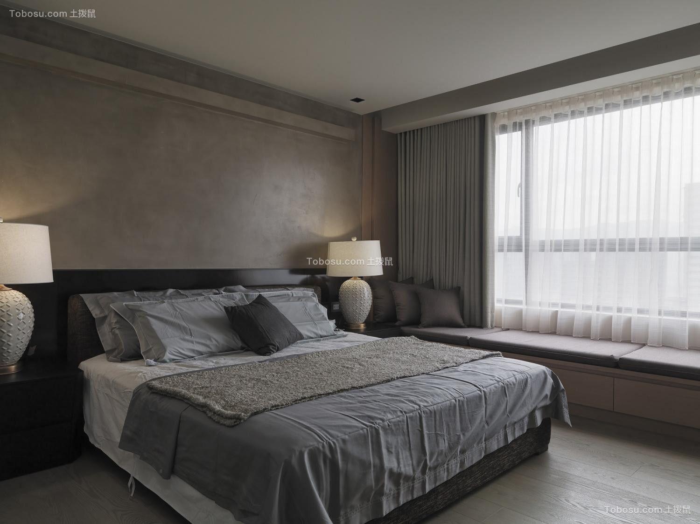 卧室黑色床古典风格装修图片