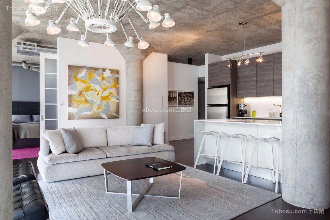 力高共和城96平米现代简约三居室装修兴发娱乐注册