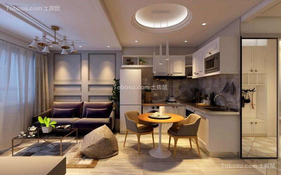 58平方简约风格公寓装修效果图