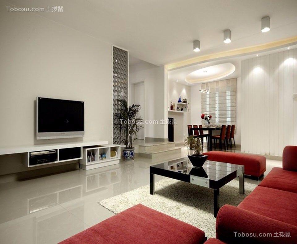 15万预算99平米两室两厅装修效果图
