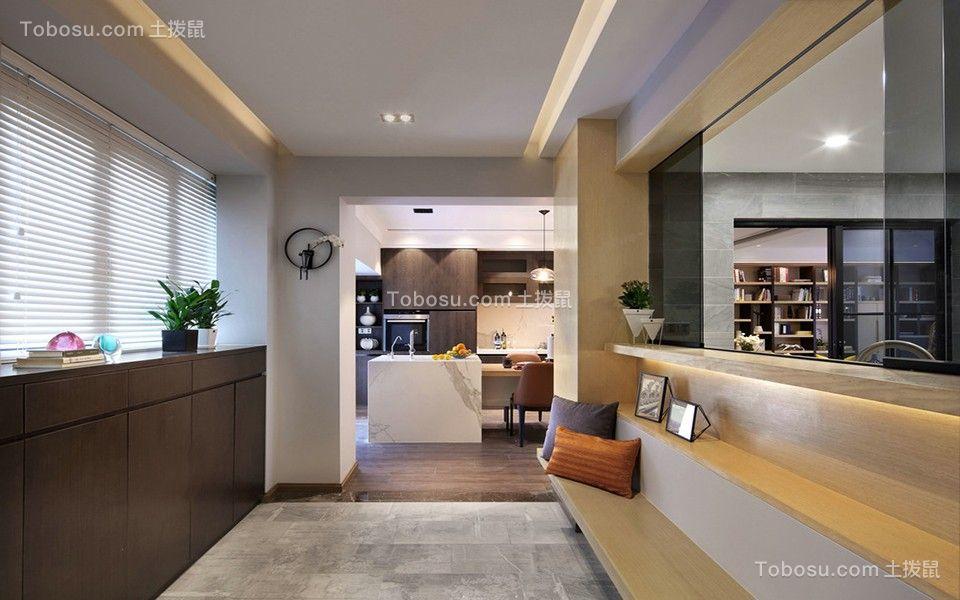 170平米现代四室二厅二卫装修效果图