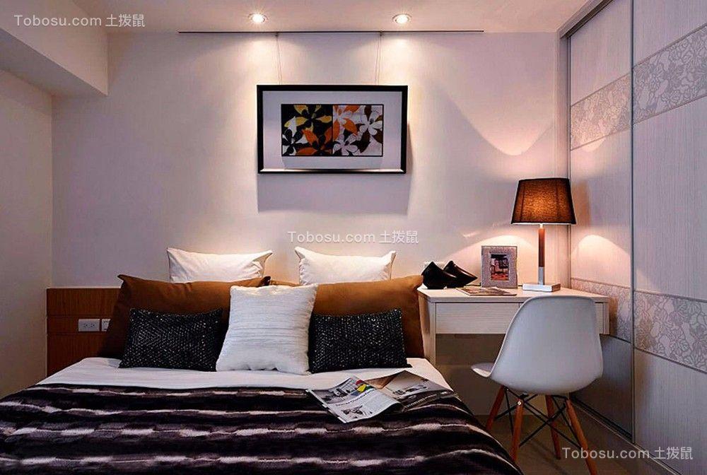 86平米现代简约三居室装修效果图