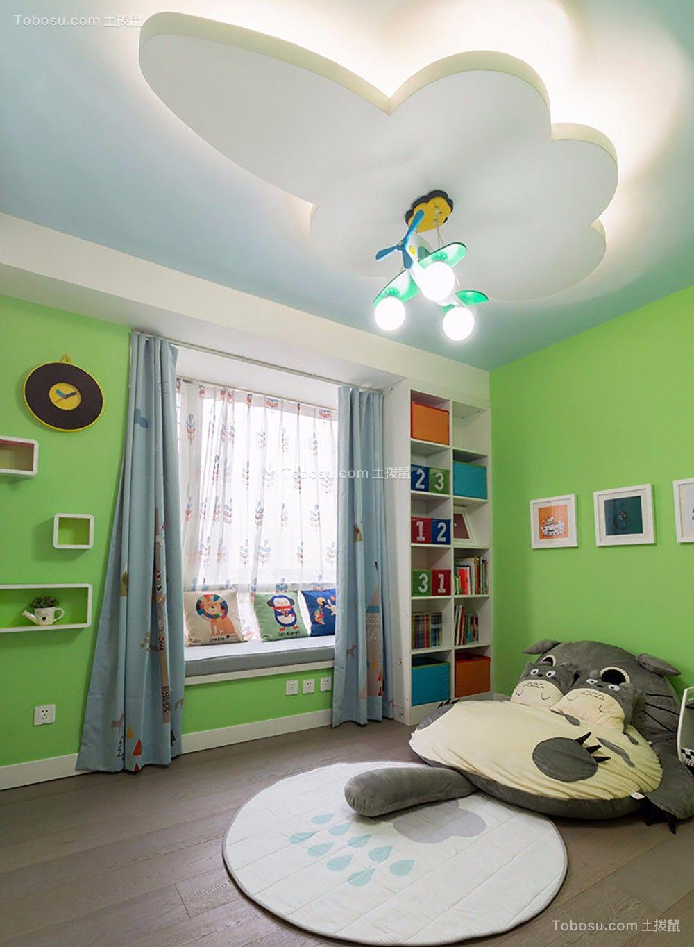 儿童房 照片墙_混搭风格190平米大户型新房装修效果图