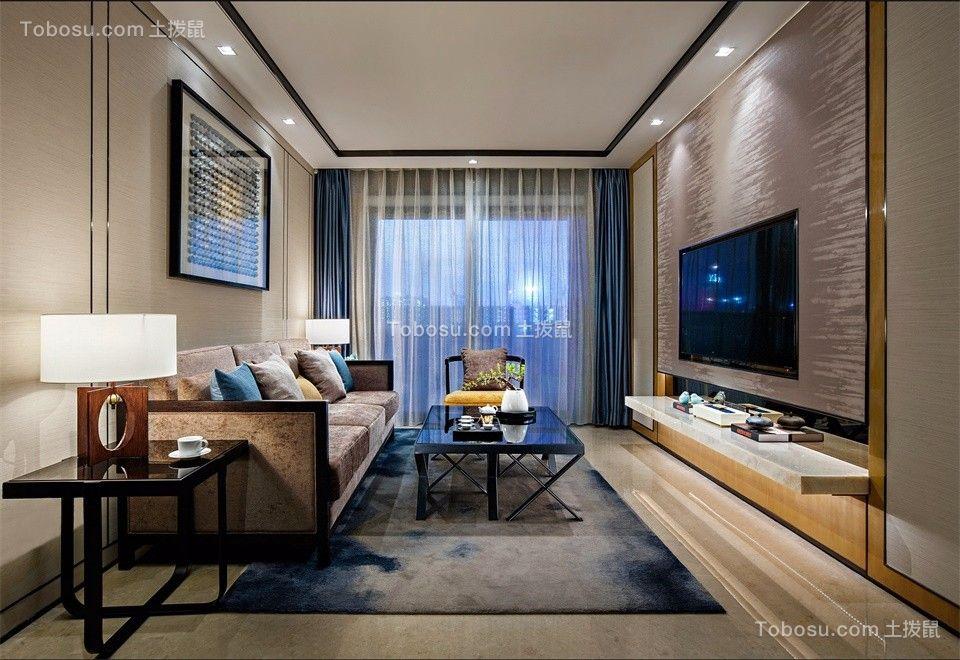 联投龙湾小区95平现代风格两居室装修效果图
