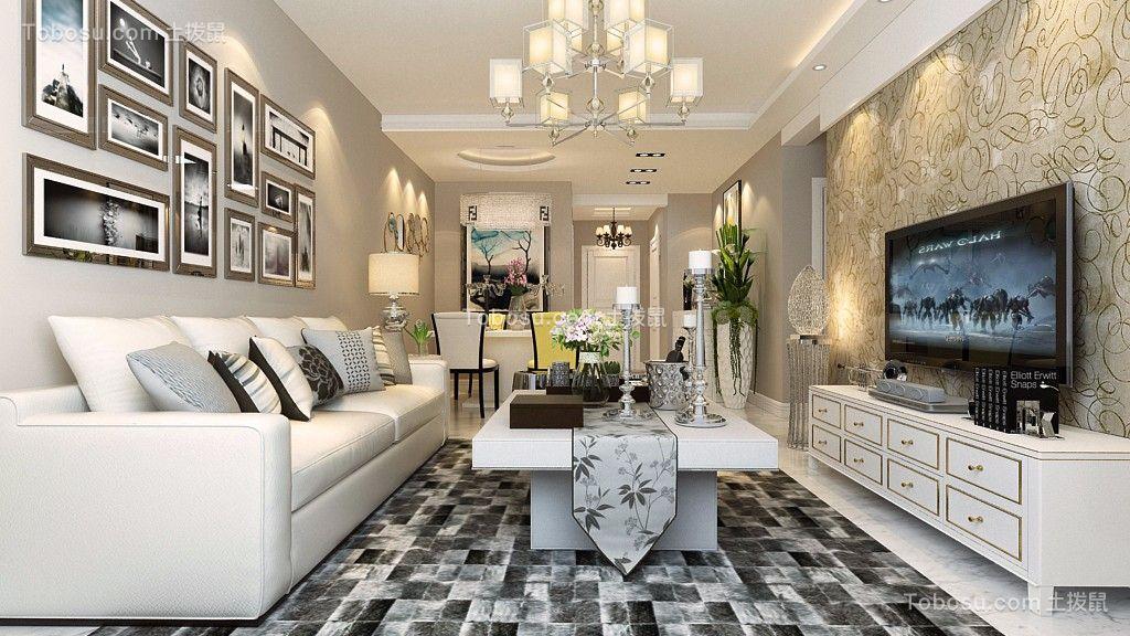 7.5万预算94平米两室两厅装修效果图
