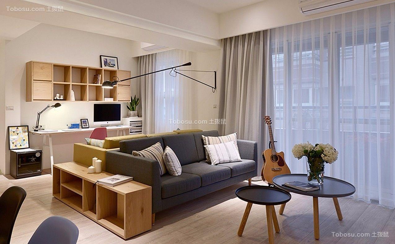 客厅灰色沙发现代简约风格效果图