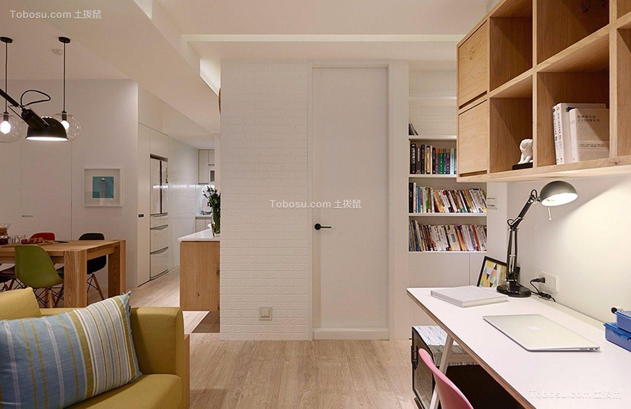 书房彩色书架现代简约风格装修图片