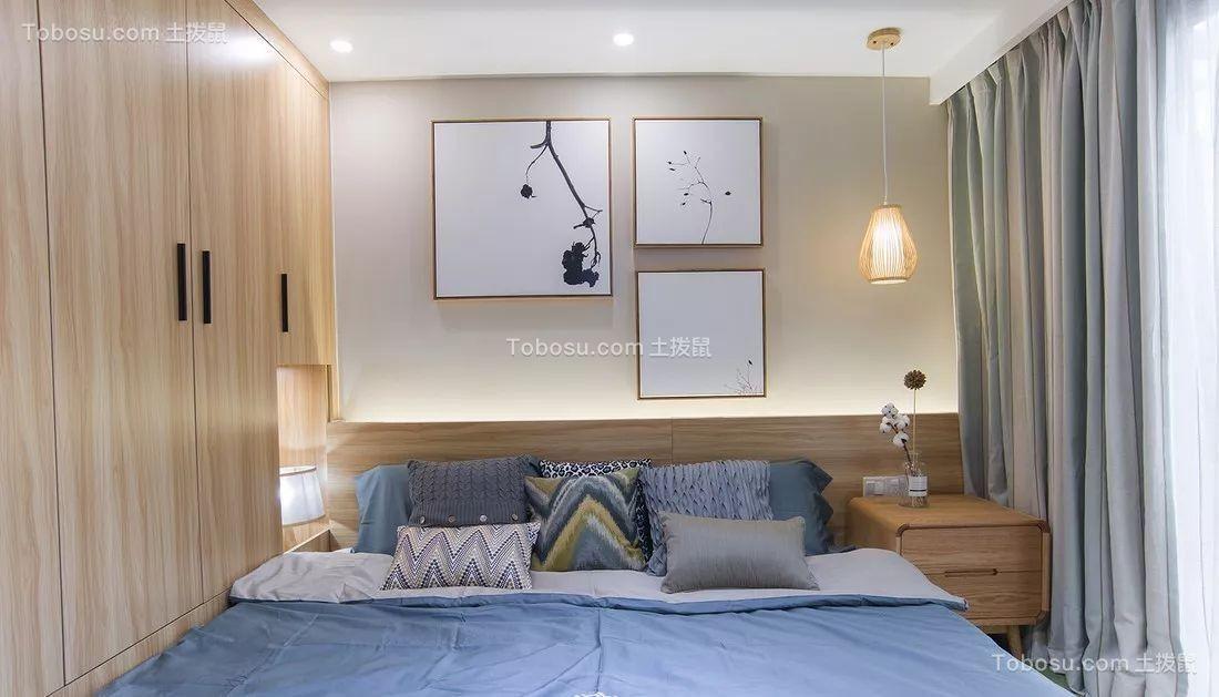 90平米日式风格二居室装修案例图