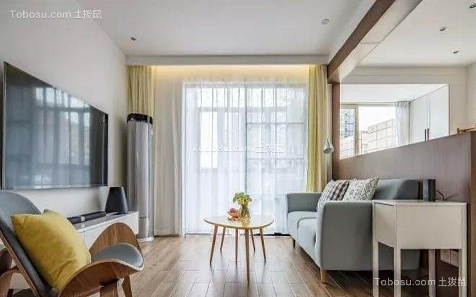 90平方北欧风格二居室装修效果图
