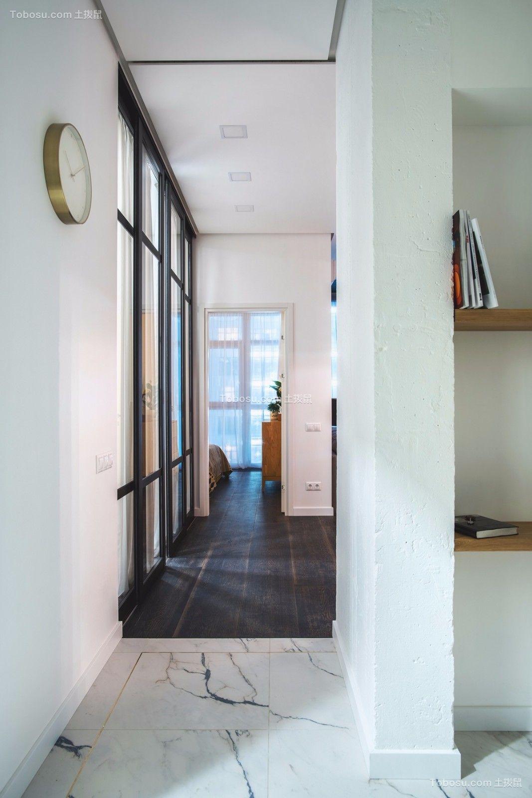 玄关白色走廊北欧风格装修图片