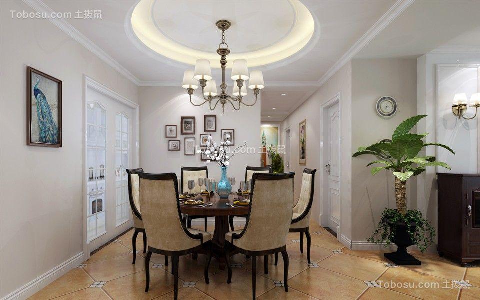 116平米简约风格三居室装修效果图