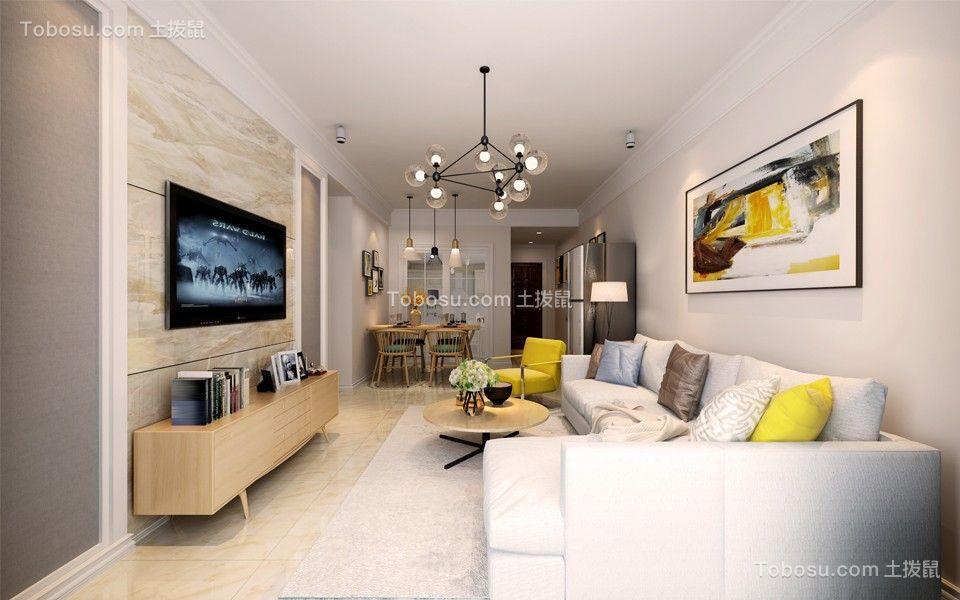 90平米简约风格三居室装饰效果图