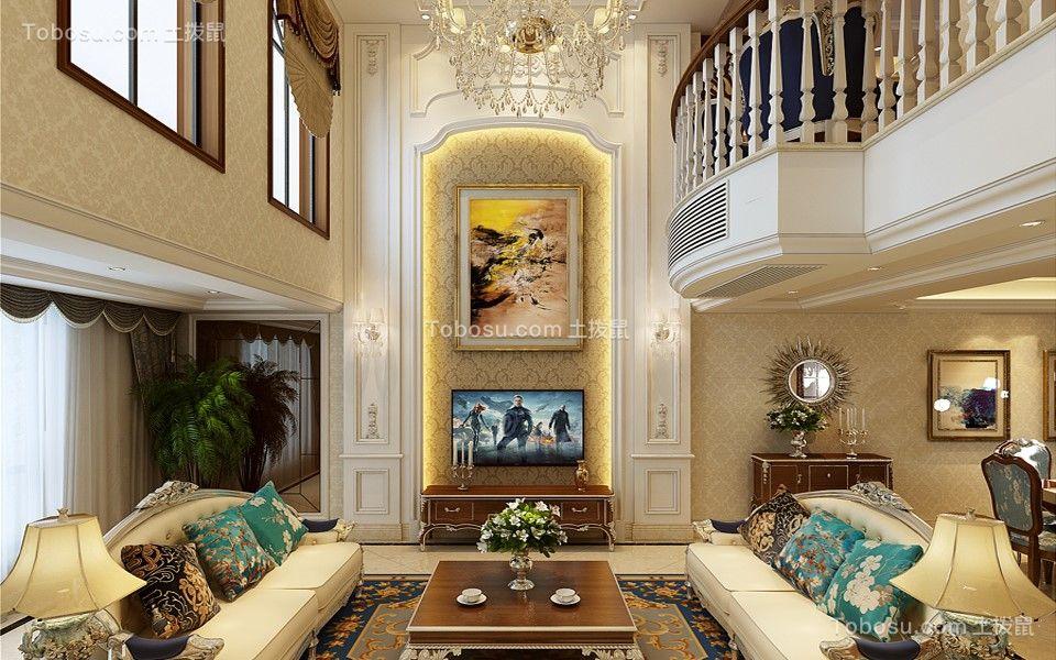 金色池塘四居室220平方简欧风格装修效果图