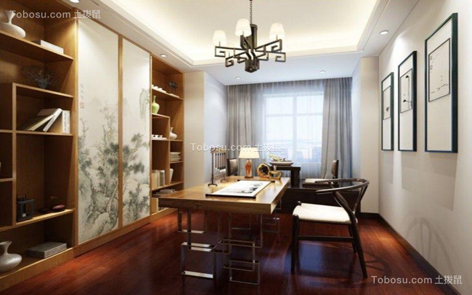 5.4万预算120平米三室两厅装修效果图
