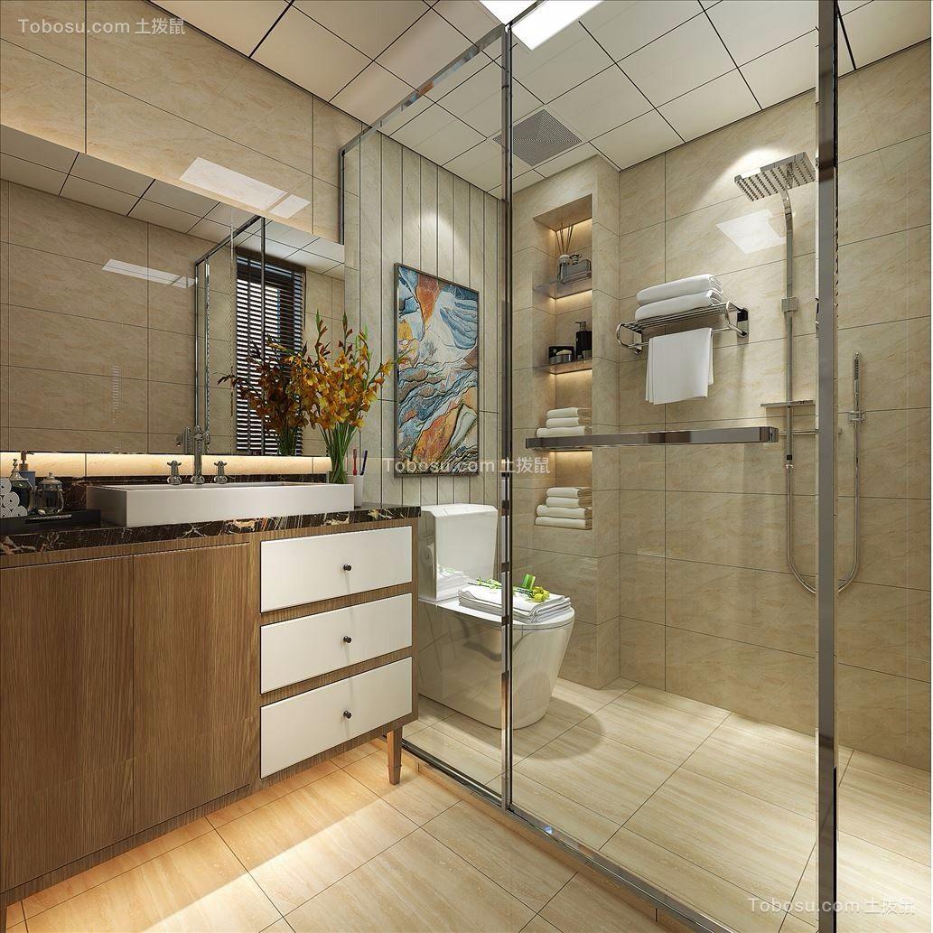 卫生间 洗漱台_现代风格147平米三室两厅新房装修效果图