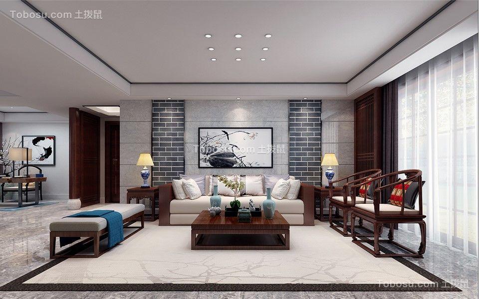 海亮九玺台四居室136平米中式风格装修效果图